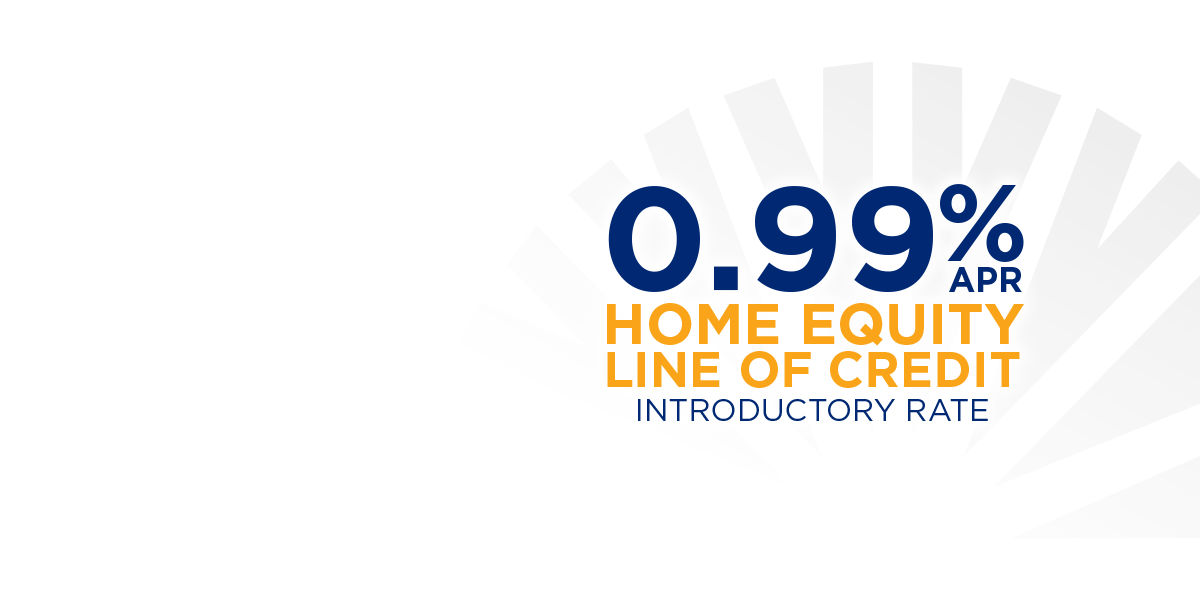 0.99% APR on Home Equity Line of Credit